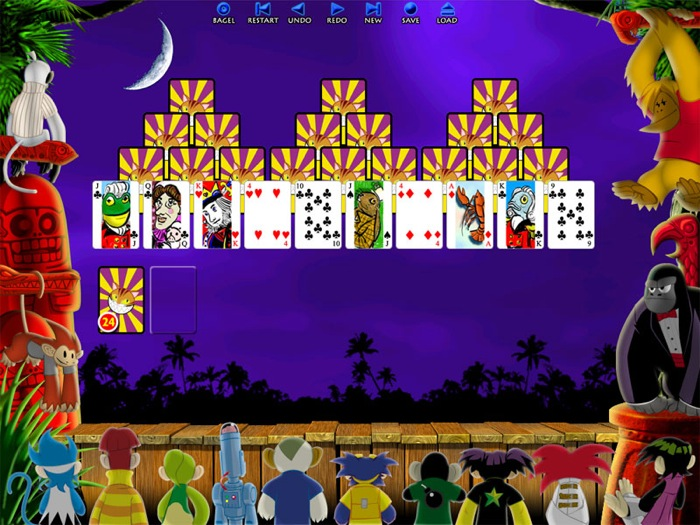 Click here to view more screenshots of Burning Monkey Solitaire