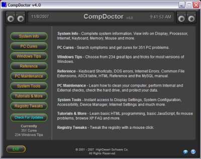 Click here to view more screenshots of CompDoctor