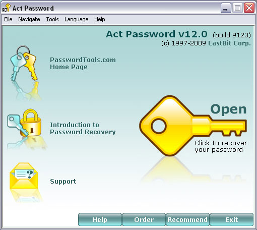 Click here to view more screenshots of LastBit Act! Password Recovery