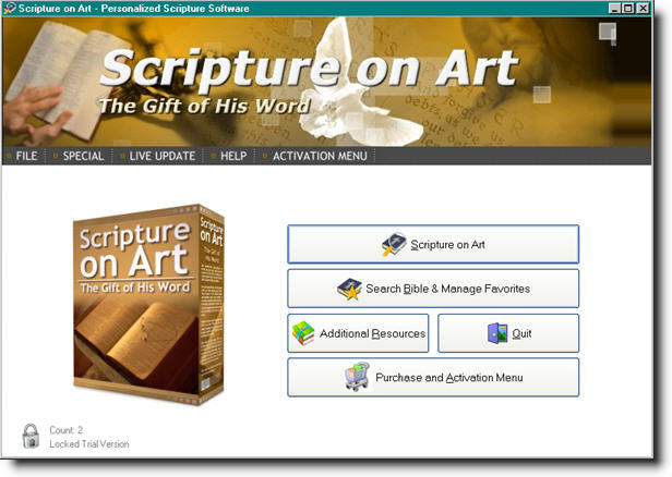 Click here to view more screenshots of Scripture on Art